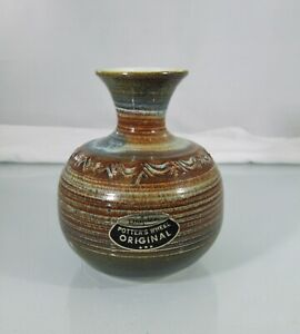 Dryden Art Pottery Vase Hand Crafted Brown Drip Glaze Potters Wheel 5 Inches