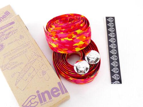 Cinelli handlebar tape bar cork pink red orange vintage Bike ALMOST GONE NOS