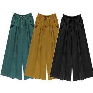 Women-Harem-Pants-Loose-Cotton-Elastic-Waist-Wide-Leg-Pants-Plus-Size-6XL