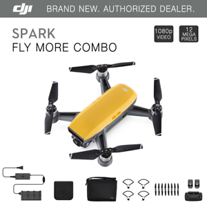 DJI Spark Fly More Combo - Sunrise Yellow Quadcopter Drone...