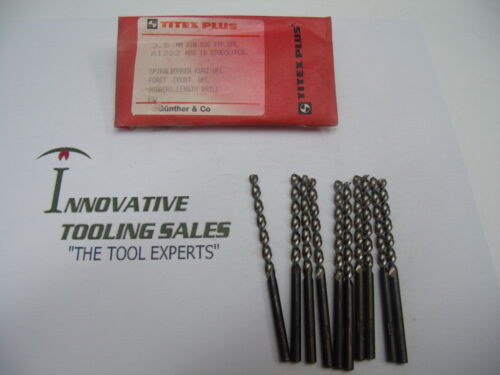 3.5mm .1378 Dia Jobber Length HSS Drill PB Bright Titex Plus Brand 10pcs