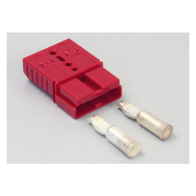Red Charger Plug Connector 50 amp with 6Ga contacts Tennant Nobles 605387