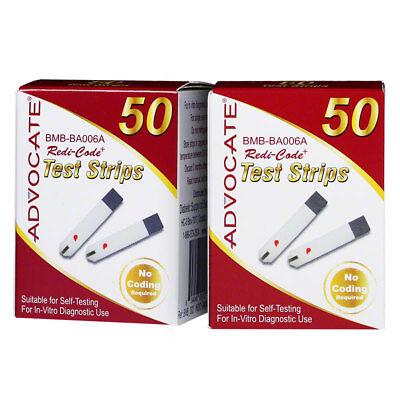 Advocate Redi Code Plus Glucose Test Strips -100 [2 packs of 50 ...