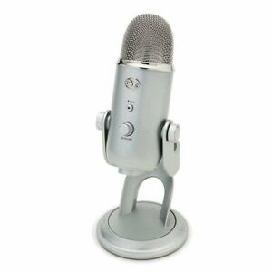 Blue Microphones Yeti USB Streaming & Recording Mac/PC Pro-Mic (Silver Edition)