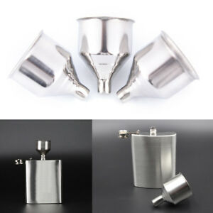 1Pc 8mm Stainless Steel Wine Funnel For All Hip Flasks Flask Filler Wine Pot cb