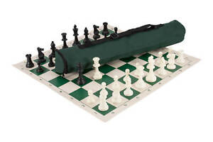 Quiver-Chess-Set-Combination-Triple-Weighted-Forest-Green-Bag-Board
