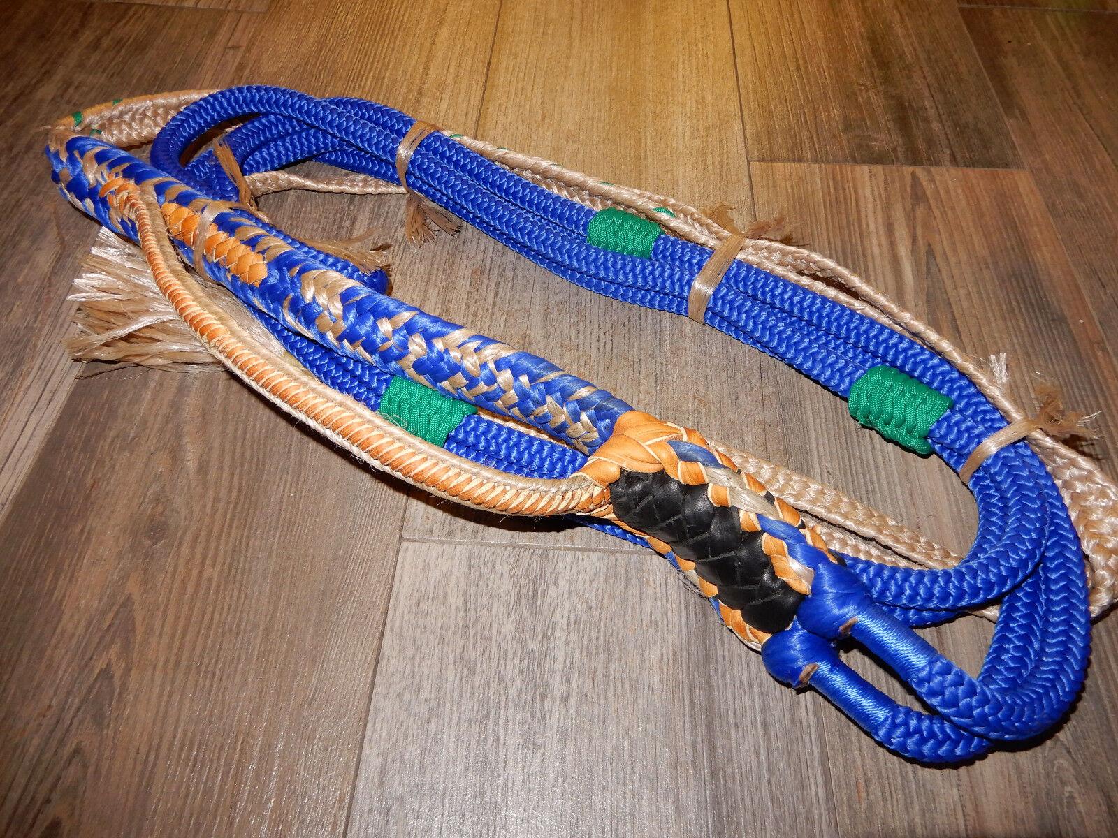 Bull Cuerda Azul Real Personalizado Pro 9 7 de mano derecha EPT Bull Cuerdas montar a caballo Rodeo Rider
