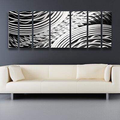 Metal Wall Art Work Modern Abstract Contemporary Design Home Decor Sculpture LG