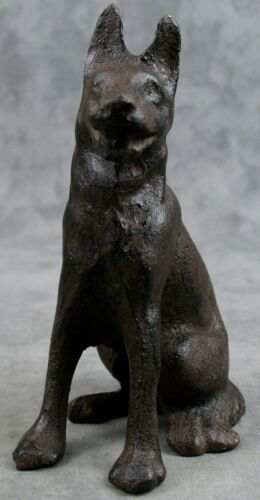 GERMAN SHEPHERD DOG Cast Iron STATUE Great as a Doorstop too!
