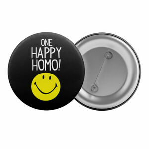 One-Happy-Homo-Badge-Button-Pin-1-25-034-32mm-Gay-Lesbian-Pride-LGBT-Smiley