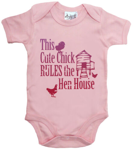 "Dirty Fingers /""This Cute Chick Rules Hen House/"" Baby Bodysuit LGBT Gay Pride"