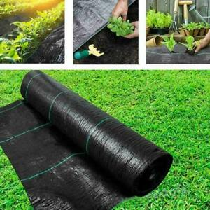 Weed Membrane Control Fabric Ground Cover Weed Barrier Garden Landscaping Sheet