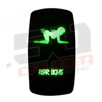 On/off Rocker Switch Green Rear Lights Universal Sandrail Atv Utv 4x4 Marine 4wd