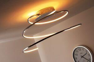 Plafoniere Led Moderne Design : Led plafoniera watt metallo cromo design moderno lampada da