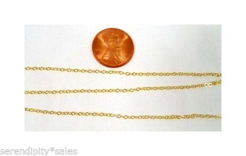 93691dce461 By-the-foot 14k Gold Filled GF Cable Chain 1.5mm BULK Footage Choose Your  Length