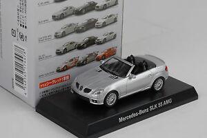 Mercedes-Benz-AMG-SLK-55-Silver-plata-1-64-Kyosho-japon-Minichamps
