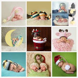 Newborn Baby Girls Boys Crochet Knit Cap Costume Photo Photography Prop Cute Hat