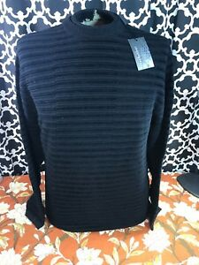 de lana negra Med Nwt con acanalada Jhane acanalada textura con textura jersey Barnes mezcla de XT7HFqE