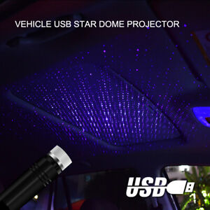 Blue-USB-Car-Interior-Atmosphere-Stars-Sky-Lamp-Ambient-Star-Light-LED-Projector