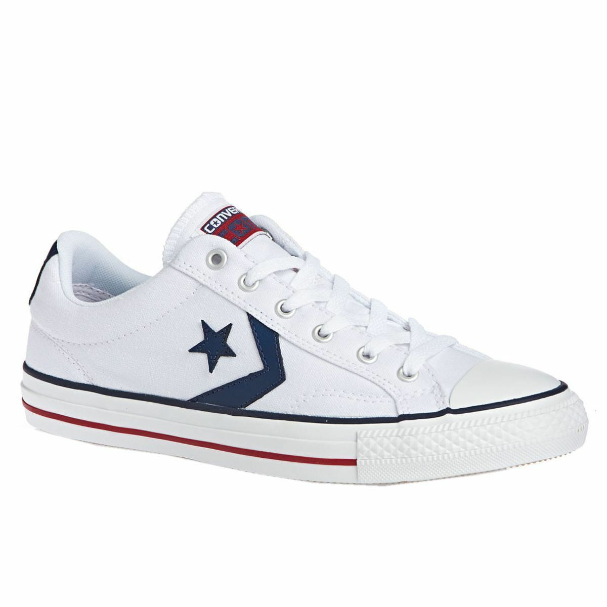 Converse Star Player Ox White Navy Womens Trainers