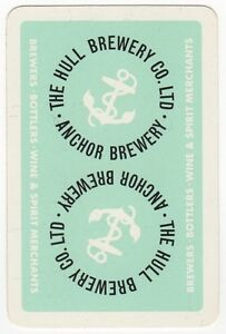 Playing-Cards-1-Single-Card-Old-HULL-Anchor-BREWERY-Advertising-Art-Beer-Ale-3