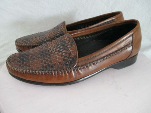 Bragano authentic rare brown black woven leather d