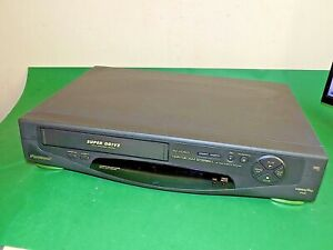 Panasonic-NV-HD600-Grabadora-De-Cassette-De-Video-Vhs-Vcr-Negro-Cinta-Defectuoso-Repuestos