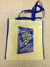 """Guiness World Records  2015  Canvas Tote Bag  14"""" x 15"""""""