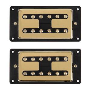 gold humbucker pickups neck bridge pick ups set for electric guitar parts 634458609913 ebay. Black Bedroom Furniture Sets. Home Design Ideas