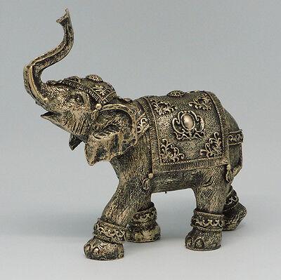 Figur Elefant Elephant aus Polyresin Antik Bronze 19 cm NEU