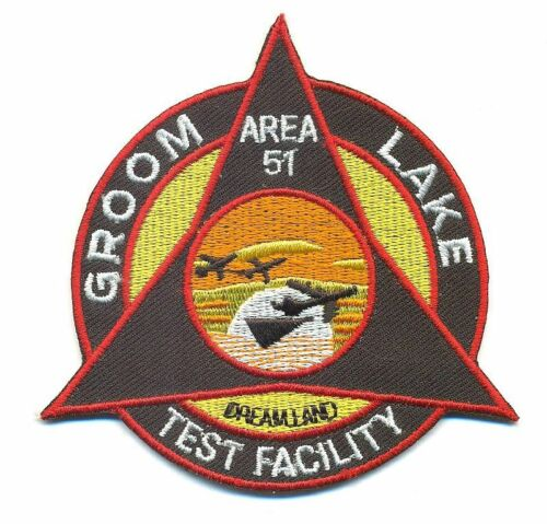 AREA 51 TRIANGLE GROOM DRY LAKE PATCH GDL01