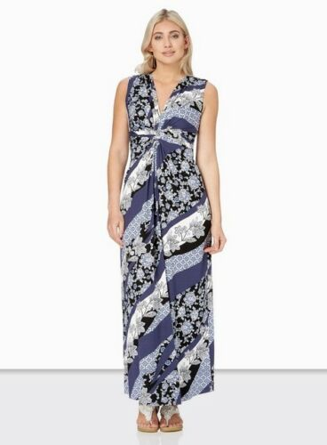 Print Originals Size Bnwt Uk16 Patchwork Maxi Dress Roman Blue wtZqndF
