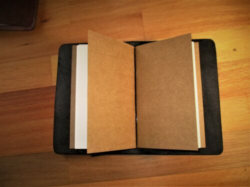 book cover A6 Traveler/'s Notebook Custom Leather Journal Diary Midori