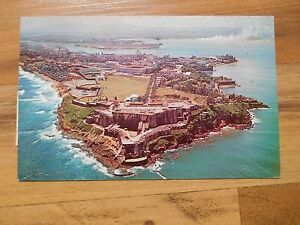 Old vintage postcard 1963 greetings from puerto rico fortress el image is loading old vintage postcard 1963 greetings from puerto rico m4hsunfo