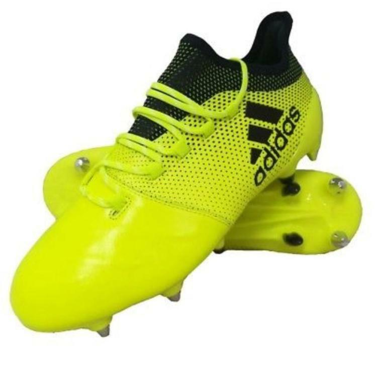 Adidas X 17.1 Leather SG Soccer scarpe Men US 11 BNIB Solar giallo New