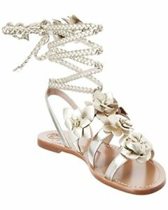 62160b74456 Image is loading NWOT-Tory-Burch-BLOSSOM-GLADIATOR-SANDAL-Leather-Metallic-