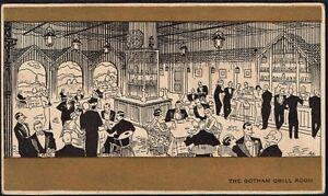995 US NEW YORK, NY RESTAURANT THE GOTHAM GRILL ROOM POSTCARD 1935