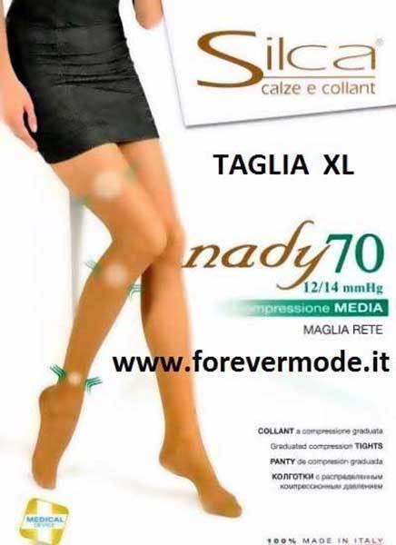 10 Women's Tights Silca Nady 70 XL Compression Media Mmhg 12 14 Art. Nady 70xl