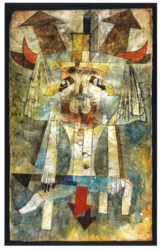 Paul Klee Kunstpostkarte Bauhaus Der wilde Mann