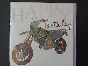 MOTORCYCLE DIRT BIKE HAPPY BIRTHDAY CARD eBay