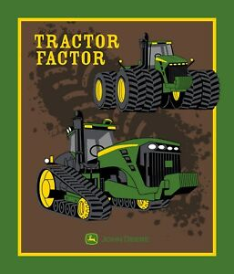 LARGE JOHN DEERE GREEN TRACTOR PANEL FOR QUILT HOME DECOR ...