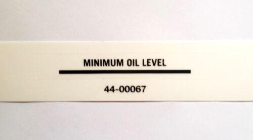 MAXIMUM OIL LEVEL Black vinyl decal TRIUMPH NORTON BSA UK