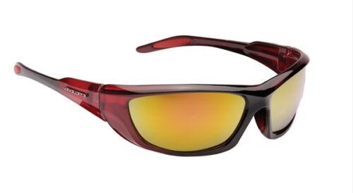 Da Uomo Designer Avvolgere Visiera Sport Biker Sci Occhiali da sole rosso giallo SPECCHIO
