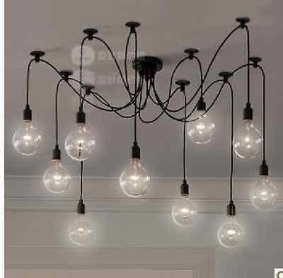 ROCK BOTTOM PRICE 10 Wire Edison Filament Bulb Chandelier W/BULBS QTY. DISCOUNT