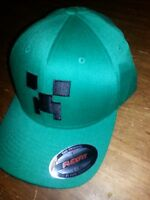 Minecraft Creeper Flex Fit Hat Cap Officially Licensed Jinx- Size L/xl