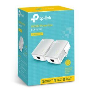 TP-LINK TL-PA411KIT 500Mbps Mini Powerline Ethernet Adapter HD Streaming AV500
