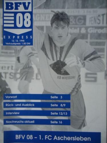 Programm 1998//99 Bischofswerdaer FV 08 FC Aschersleben