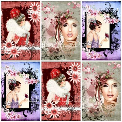 Card Toppers MISTY MOMENTS ART DECO Embellishments Card Making Toppers 12