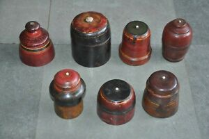 7-Pc-Old-Wooden-Painted-Handcrafted-Lacquer-Powder-Boxes