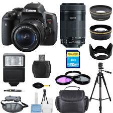 Canon EOS Rebel T6i/750D DSLR Camera W/ 18-55mm & 55-250mm Lens! PRO BUNDLE -New
